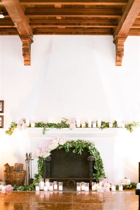 wedding wednesday fireplace mantles flirty fleurs