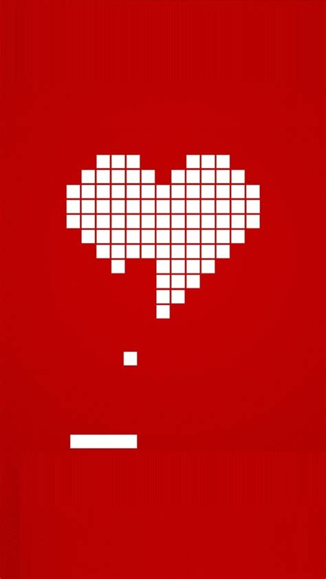 bit heart valentines day iphone  wallpaper hd