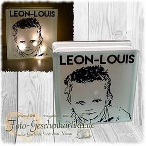 Lampe Mit Eigenen Fotos : glasbaustein lampe mit foto geplottert foto ~ Lizthompson.info Haus und Dekorationen