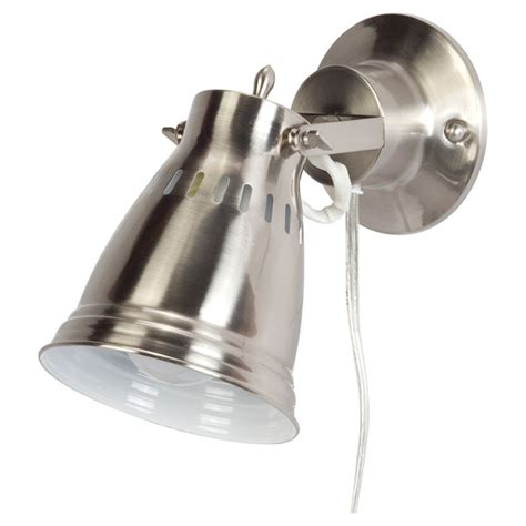 1 light pivoting shade wall sconce brushed steel rona