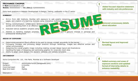 a sle resume template to help you write your own
