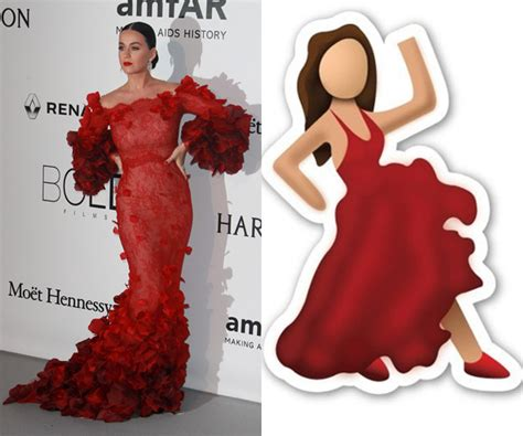 Katy Perry Looks Exactly Like The Dancing Lady Emoji At
