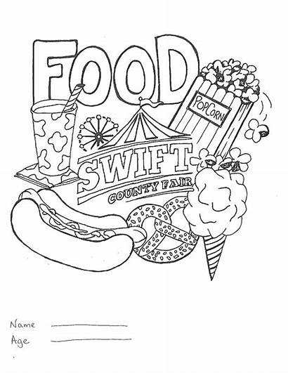 Coloring Pages Olds Carnival Fair County Contest