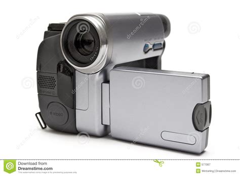 digital camcorder front side view royalty  stock