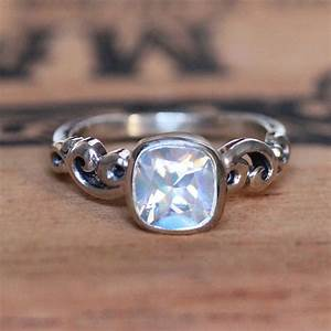 Rainbow Moonstone Engagement Ring