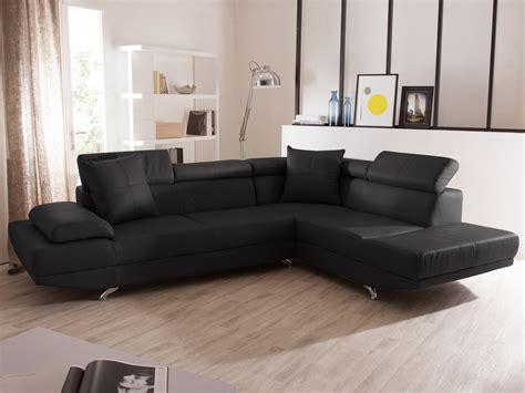 canapé en cuir d angle canapé d 39 angle fixe en cuir 5 places avec têtières