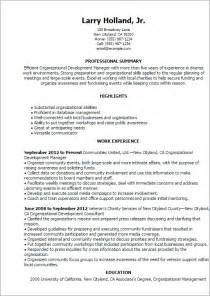Resume Templates For Assistants Professional Organizational Development Templates To Showcase Your Talent Myperfectresume