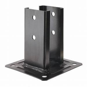 Support De Poteau : kit pour poteau carr noir 7x7 chapeau manubricole ~ Melissatoandfro.com Idées de Décoration