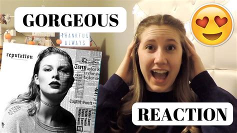 GORGEOUS - TAYLOR SWIFT (REACTION) | CaylensLife - YouTube