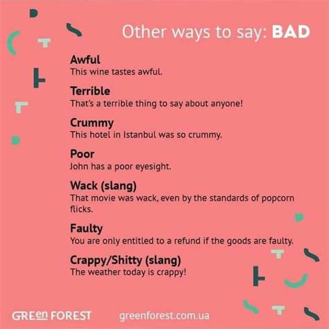 Other Ways To Say Beautiful & Bad  Materials For Learning English