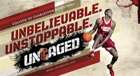 uncaged campaign college  charleston athletics  behance