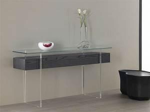 Console Verre Et Bois : tables consoles en verre design et modernes ~ Teatrodelosmanantiales.com Idées de Décoration