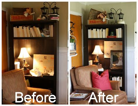 Decorating Bookshelves Without Books by How To Decorate A Bookcase On The Cheap