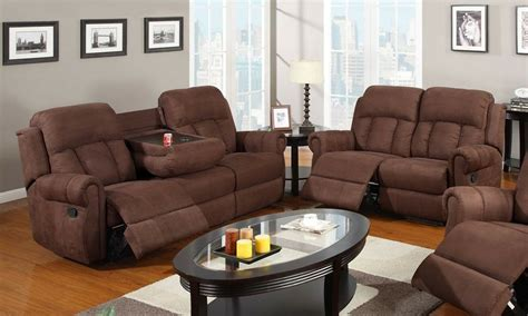 Reclining Loveseat With Cupholders by 2 Pc Modern Recliner Sofa W Cup Holder Recline
