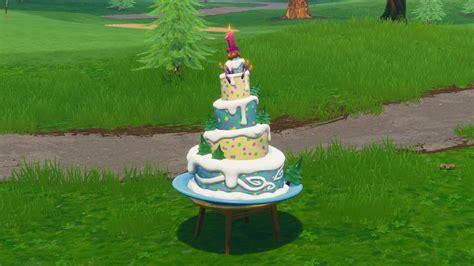 fortnite birthday cake locations   dance  front