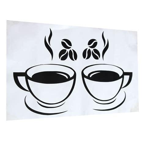 Starbucks cup drawing coffee mug drawing starbucks coffee cups coffee cup art coffee is life my coffee coffee mugs superman wall hung toilet. Double Coffee Cups Wall Stickers Waterproof Vinyl Adhesive Art Wall