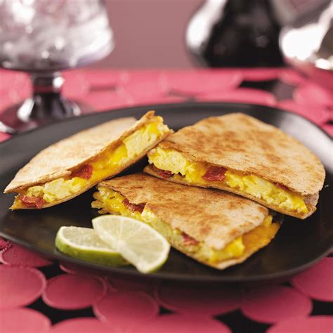 breakfast recipies easy breakfast quesadillas recipe taste of home