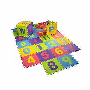 30cm x 30cm childrens babies soft eva foam play mat With foam letters and numbers mat
