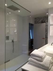 Paroi Douche Verre Sablé : paroi de douche verre feuillet anti calcaire glace argent e ~ Premium-room.com Idées de Décoration