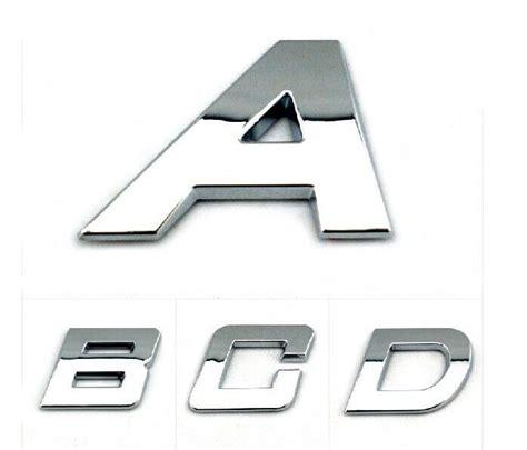 Car Stickers Auto Emblem Decals Bright Chrome Letters