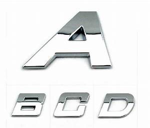 car stickers auto emblem decals bright chrome letters With chrome letter stickers