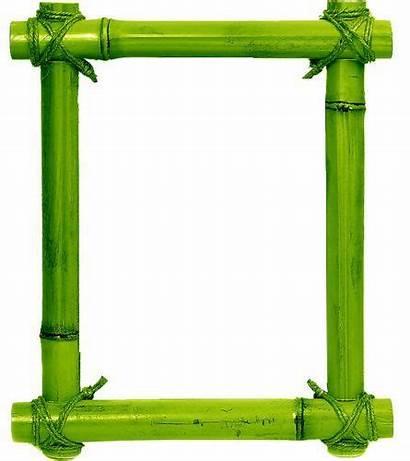 Bamboo Border Borders Frame Frames Zelen Clipart