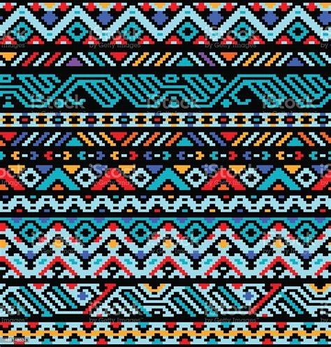 Colorful Ethnic Geometric Aztec Seamless Pattern Vector