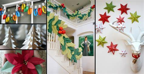 effortless paper christmas decorations  paper blog