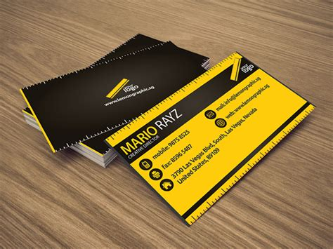 renovator corporate business card lemon graphic