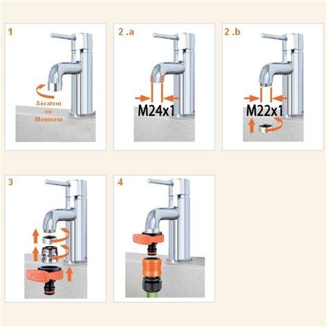 adaptateur tuyau d arrosage sur robinet de cuisine adaptateur mitigeur ou robinet pour raccord rapide