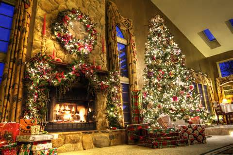 toys lights christmas tree fireplace room desktop wallpapers 1152x864