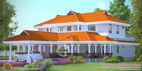 bedroom luxury villa plan kerala home design  floor