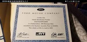 1993 Ford Mustang Cobra 5.0, 89,000 orig miles, factory window sticker and Cert for sale - Ford ...