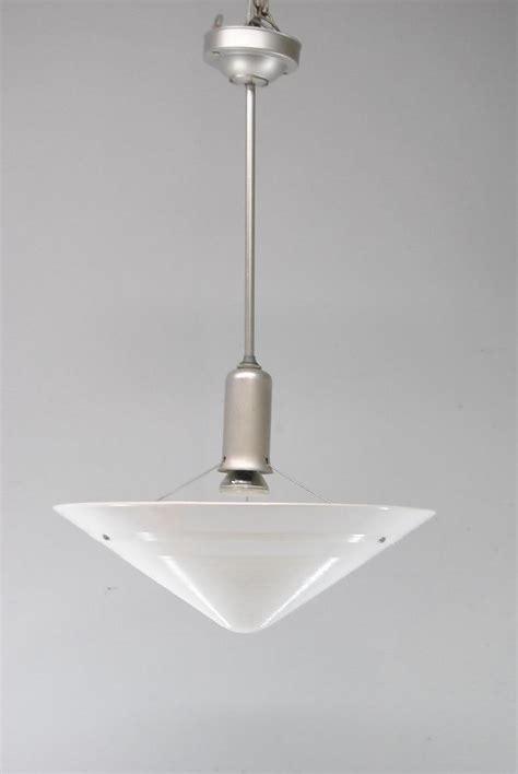 single chandelier modern conical form glass 1960 s single socket chandelier