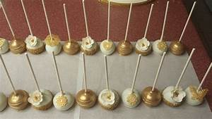 Ivory And Gold Cake Pops - CakeCentral com