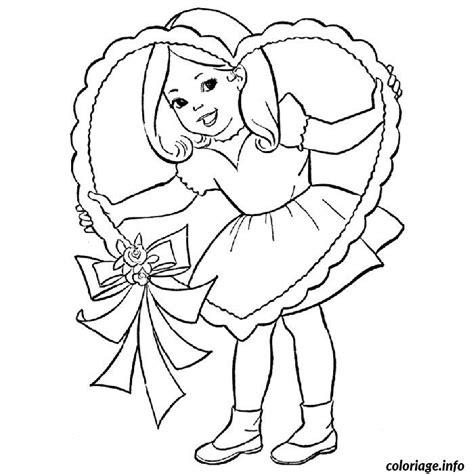Buzz2000 est le meilleur site de coloriage gratuits en ligne ! Coloriage Petite Fille Valentine Dessin Fille à imprimer