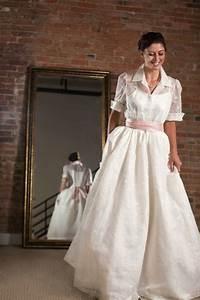 trend alert the shirtwaist wedding dress onewed With shirt wedding dress
