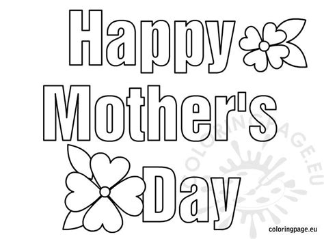 happy mothers day coloring coloring page