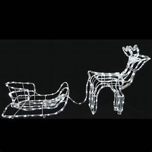 Decoration De Noel Exterieur Lumineuse : renne et traineau lumineux 198 led blanc d co noel exterieur pas cher ~ Preciouscoupons.com Idées de Décoration