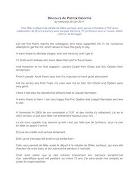 discours de delorme du mercredi juin pour f 234 ter le d 233 part la retraite de gilles lachaud