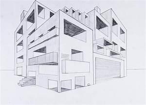 Haus Zeichnen 3d : perspektive mit 2 fluchtpunkten futuristisches geb ude unterricht perspektive in 2019 ~ Watch28wear.com Haus und Dekorationen