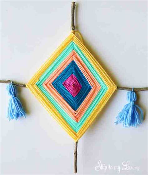 diy gods eye yarn art   takes
