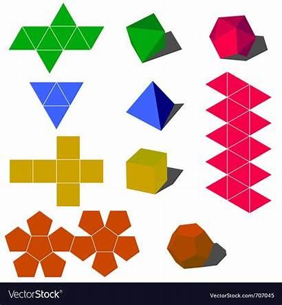 Shapes Geometric 3d Vector Vectorstock Vectors Royalty
