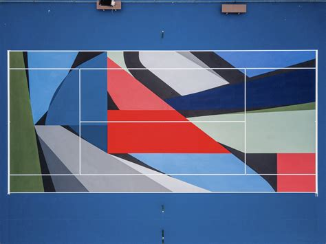 heres  artists  transforming tennis courts   country galerie