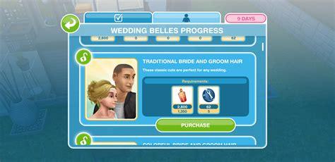 the sims freeplay wedding belles update walkthrough