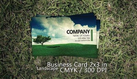landscaping business card templates pages ai