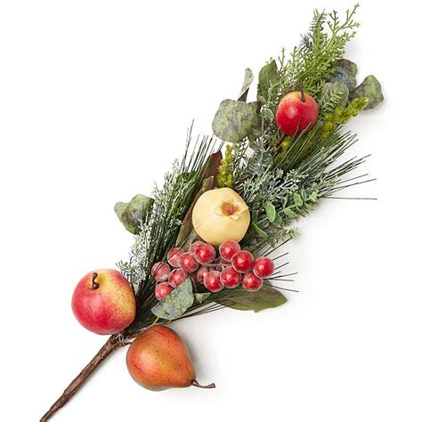 holiday artificial fruit and greenery stem new items