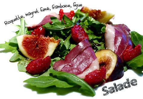 Entree Salade Magret De Canard by Salade De Roquette Au Magret Fum 233 Figue Et Framboises