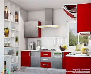 Kerala kitchen interiors kerala home design and floor plans for Interior design for kitchen in kerala