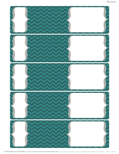 chevron fever  printable labels  printable